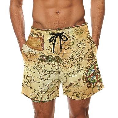 Amazon.com: lorvies hombre viejo pirata mapa con rosa de los ...