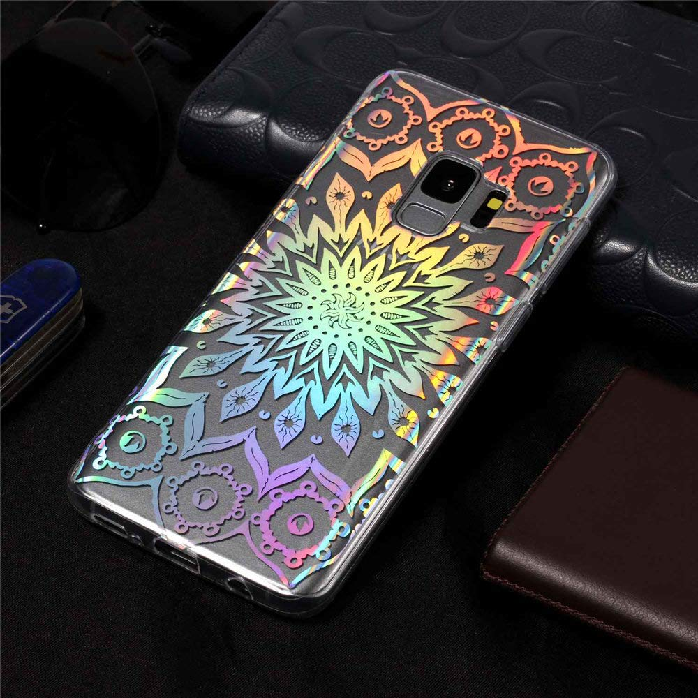 Funda Samsung Galaxy Note 8 MHHQ Slim Glitter Sparkle Bling Cute Case con Rave Holographic Laser Flexible Transparente Crystal Clear Soft TPU Silicone Case Cover para Samsung Galaxy Note 8-2