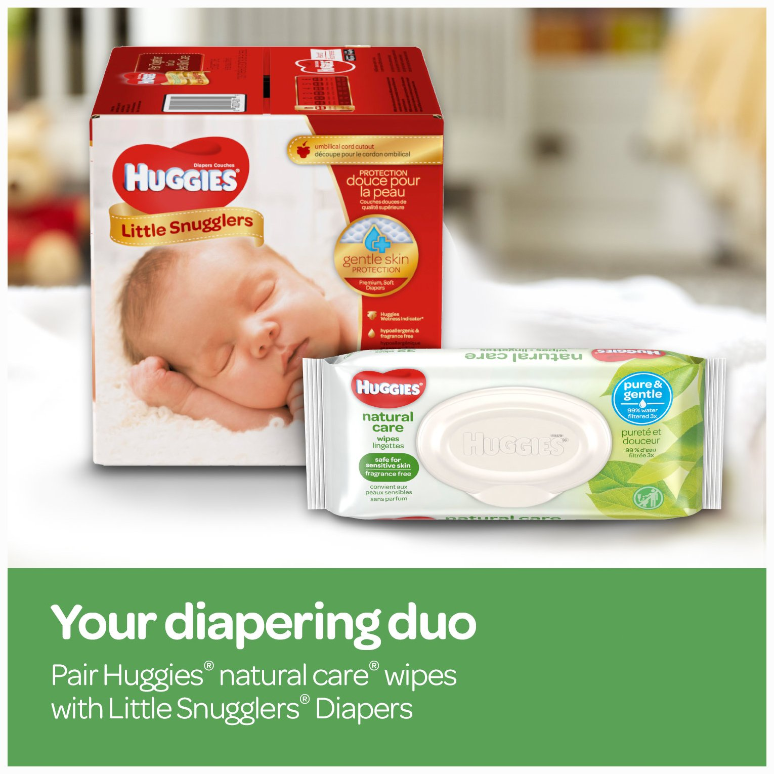 Huggies Natural Care Unscented Baby Wipes, Sensitive, Hypoallergenic, Water-Based, 3 Refill Packs, 648 Count Total by HUGGIES (Image #10)