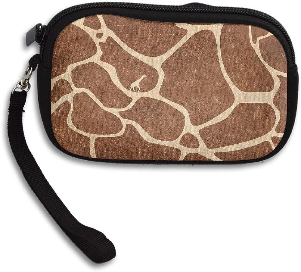 Giraffe Pattern Deluxe Printing Small Purse Portable Receiving Bag