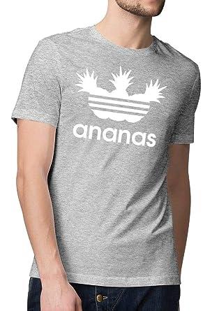 promo code 4a14d bbcf5 Herren Basic T-Shirt Bedruckt Ananas Logo Parodie - Sprüche Fun Shirts für  Männer