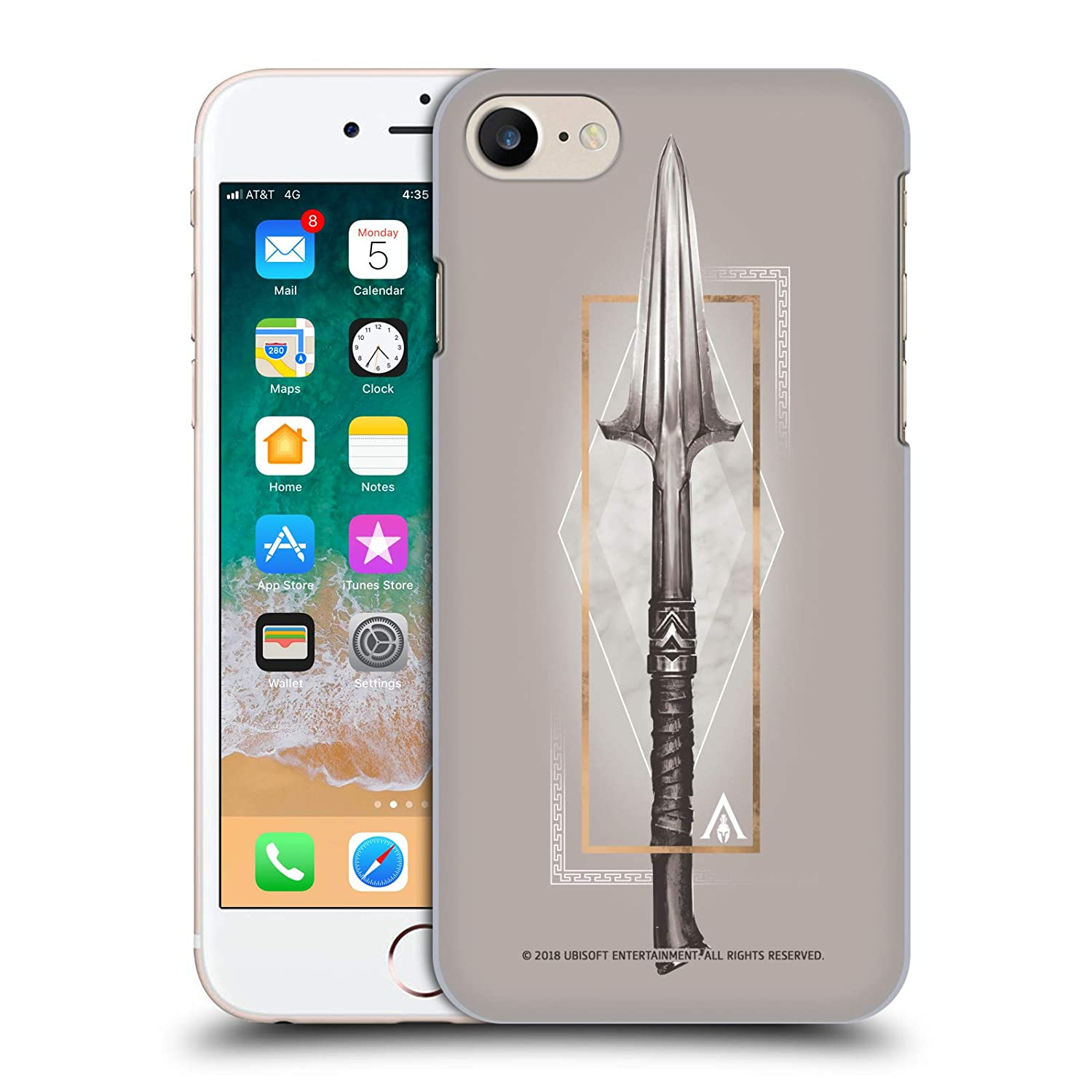 Official Assassin's Creed Spear Odyssey Artwork Hard Back Case for iPhone 7  / iPhone 8