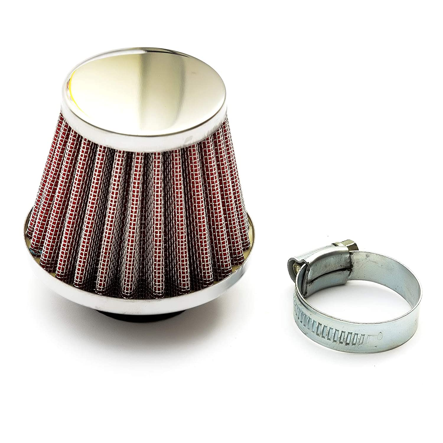 32mm Scooter Air Filter Red Performance Mushroom Style Straight Neck