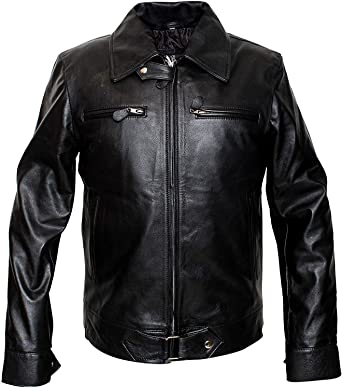 German Luftwaffe Men/'s Black Cowhide Biker Style Real Leather Jacket 5074