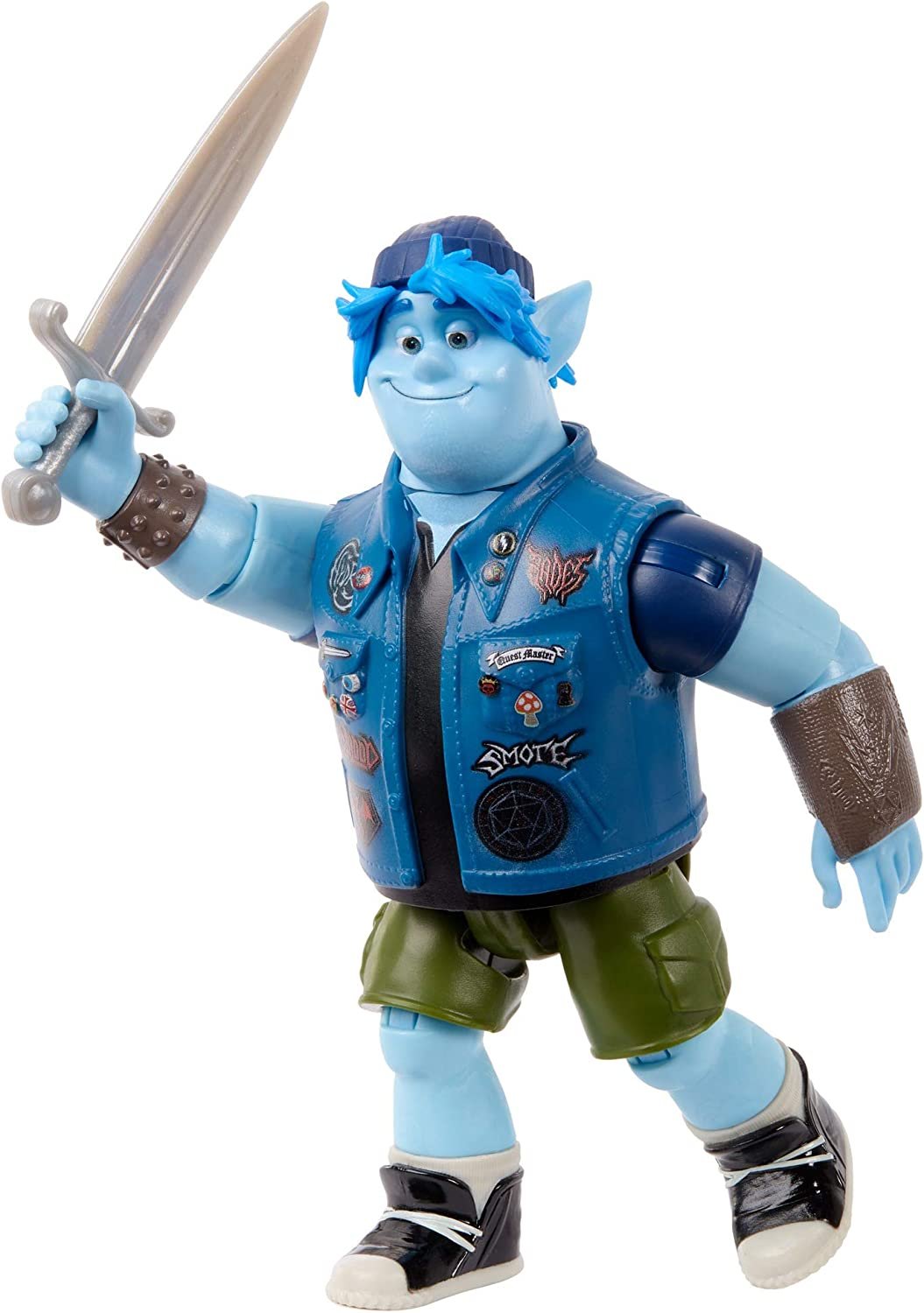 Disney Pixar Onward: Core Figure Barley Character Action Figure Realistic Movie Toy Brother Doll for Storytelling, Display and Collecting for Ages 3 and Up [Amazon Exclusive]