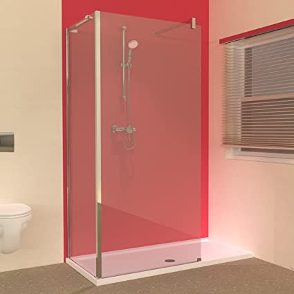 Line 1500 X 700 Shower Tray With L Shaped Walk In Shower Screens