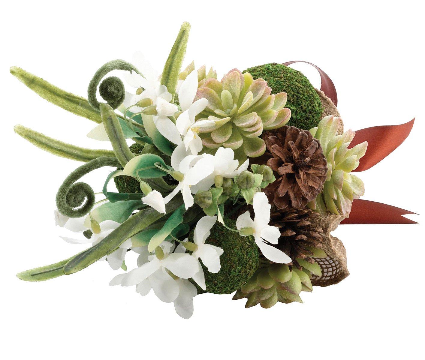 Lillian Rose Woodland Outdoor Wedding Moss Bouquet BQ600