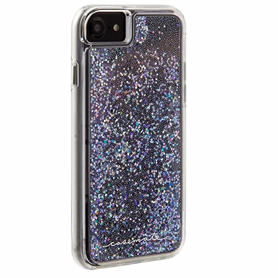 big sale 08a8e aae0f Case-Mate - iPhone 7 Case - Waterfall - Cascading Liquid Glitter - for  iPhone 7 / 6s / 6 - Black