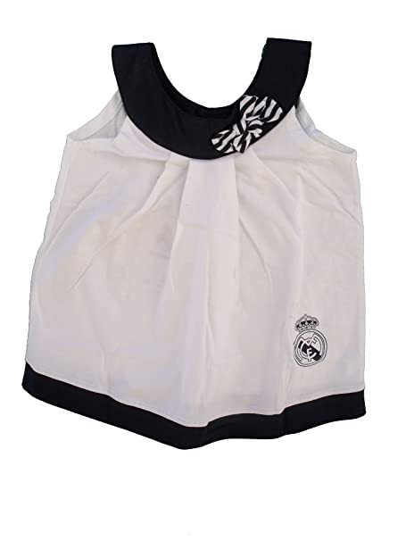 Vestido Real Madrid Niñas Blanco/Negro
