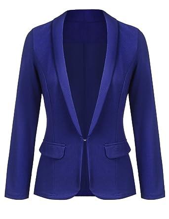 Grabsa Women S Work Office Blazer Long Sleeve Classic Open Front
