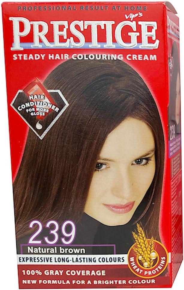 Vips prestige crema colorante para el cabello, color marrón natural 239