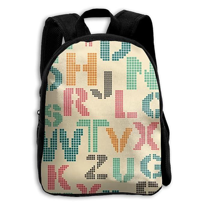 Amazon.com: La letras de alfabeto de los niños mochila: Clothing