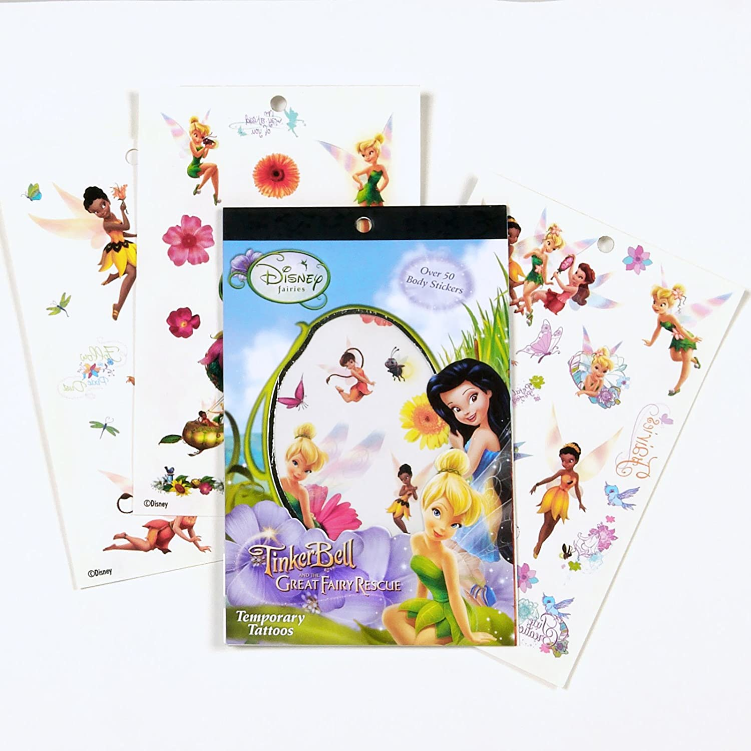 Disney Tinkerbell And Fairies Temporary Tatto Notepad Set ...