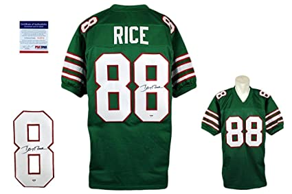 promo code 3c8c3 f4f35 Signed Jerry Rice Jersey - PSA/DNA Certified - Autographed ...