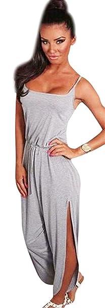 Hot!!Damen Kleid Jumpsuit Internet Lässige ärmellose Spaghetti Strap ...