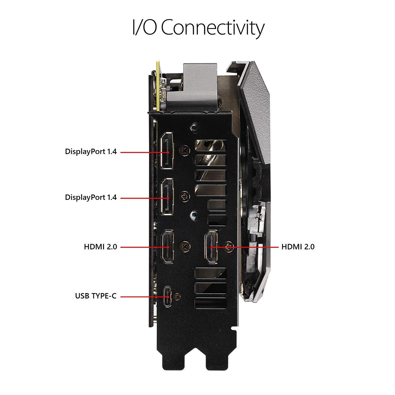 ASUS GeForce RTX 2080 O8G ROG STRIX OC Edition GDDR6 HDMI DP 1.4 Type-C graphics card (ROG-STRIX-RTX2080-O8G-GAMING) by ASUS (Image #3)