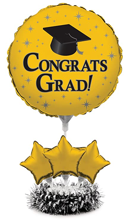 Creative Converting Air-Filled Balloon Centerpiece Kit Graduation, School  Bus Yellow
