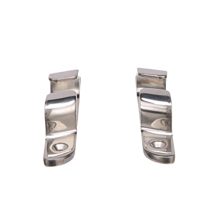 Accept Up to 5//8 Inch Line Pack of 2 4-3//4 Inches Long Seachoice 31251 Bow Chocks Polished 316 Stainless Steel