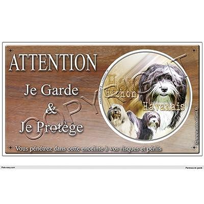 Panneau chien ou plaque Bichon-Havanais 20 cm