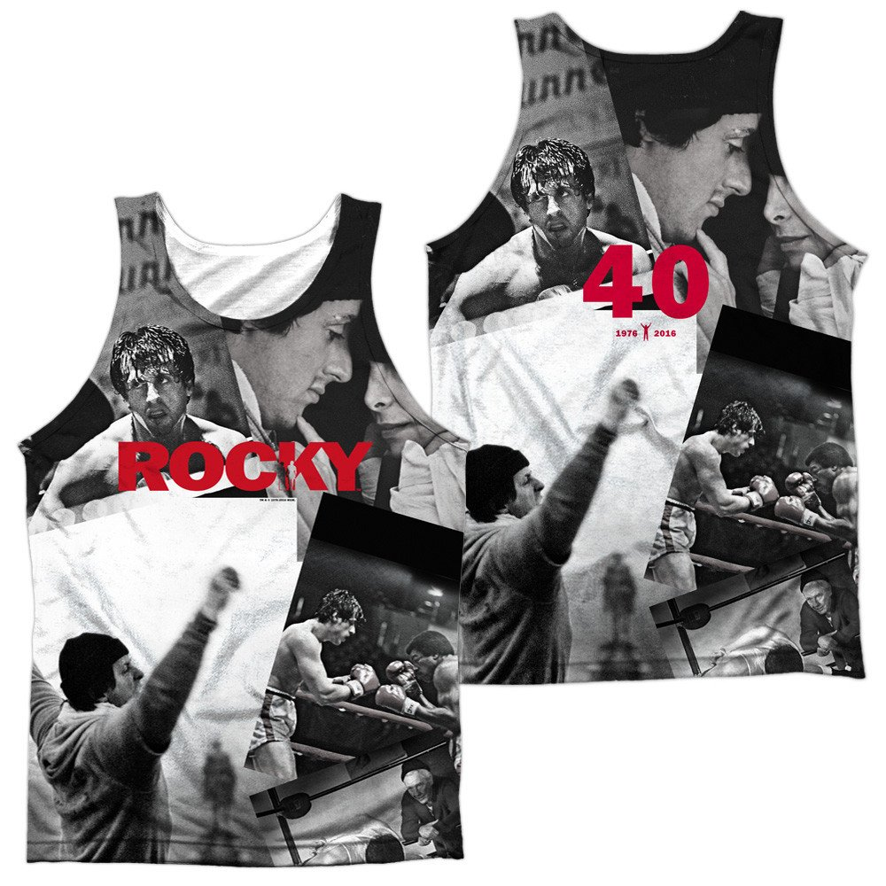 40th Anniversay Collage Adult Tank Top Rocky
