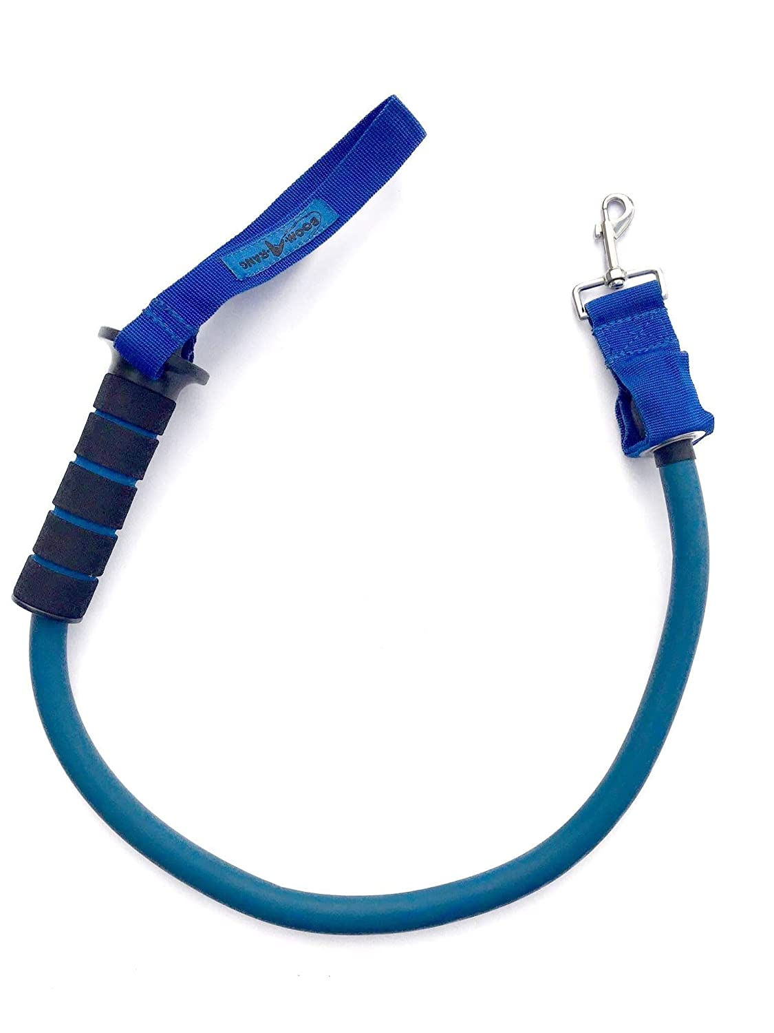 blueE Boomarang Leash Dog 'Training Leash' Shock Absorber removes 50% Pull Guaranteed Dogs UP to 100LBS (bluee)