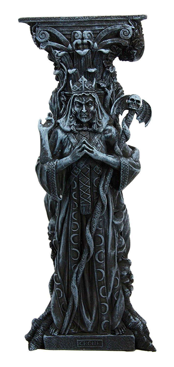 Atlantic Collectibles Triple Goddess Maiden Expectant Mother /& Crone Pagan Worship Decorative Candle Holder Figurine