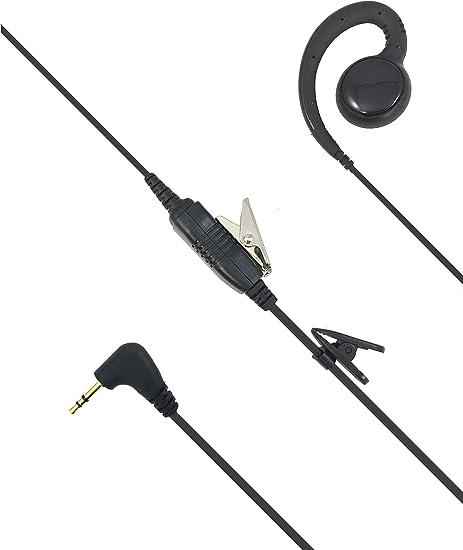 Swivel Clip Two Way Radio Headphone PTT for Motorola CLP1040 CLP1060 CLP1010