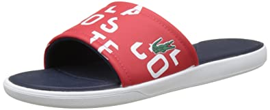 384248c20705 Lacoste L.30 Slide 117 2 Cam Red, Tongs Homme: Amazon.fr: Chaussures ...