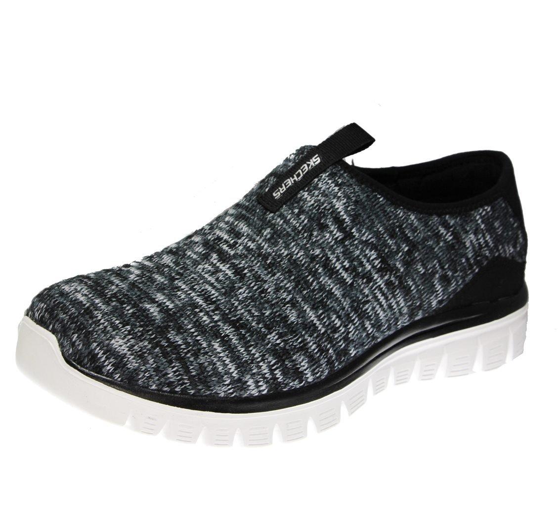 Skechers Sport Women's Empire Inside Look Fashion Sneaker B078SZ9HM4 9 B(M) US Black/White Knit