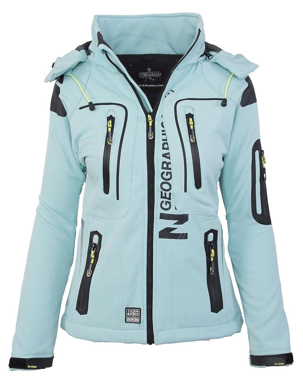 Aqua L GEOGRAPHICAL NORWAY femmes Softshell fonctions plein pluie veste sport