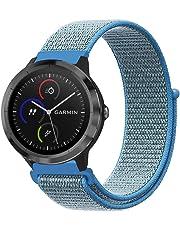 Fintie Armband für Garmin Vivoactive 3 / vívomove HR / Forerunner 245 / Forerunner 645 Music - Premium Nylon atmungsaktive Uhrenarmband Ersatzband mit verstellbarem Verschluss, Blau