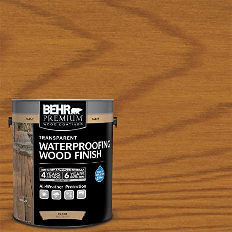 amazon com behr 1 gal natural clear premium transparent deck