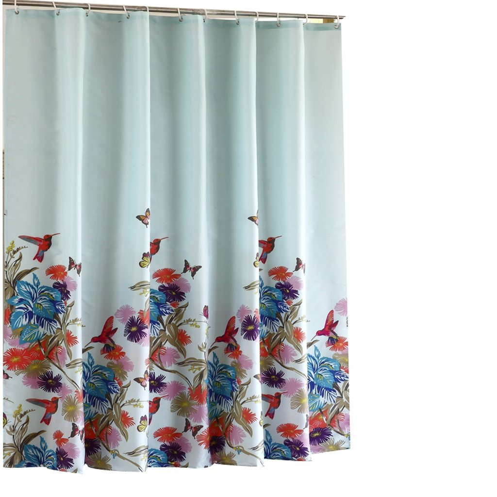 Curtain Bathroom Shower Curtain, Mildew Waterproof Padded Shower Curtain, Thermal Insulation Polyester Fabric Shower Curtain Shower Equipment (Size : 200200cm)