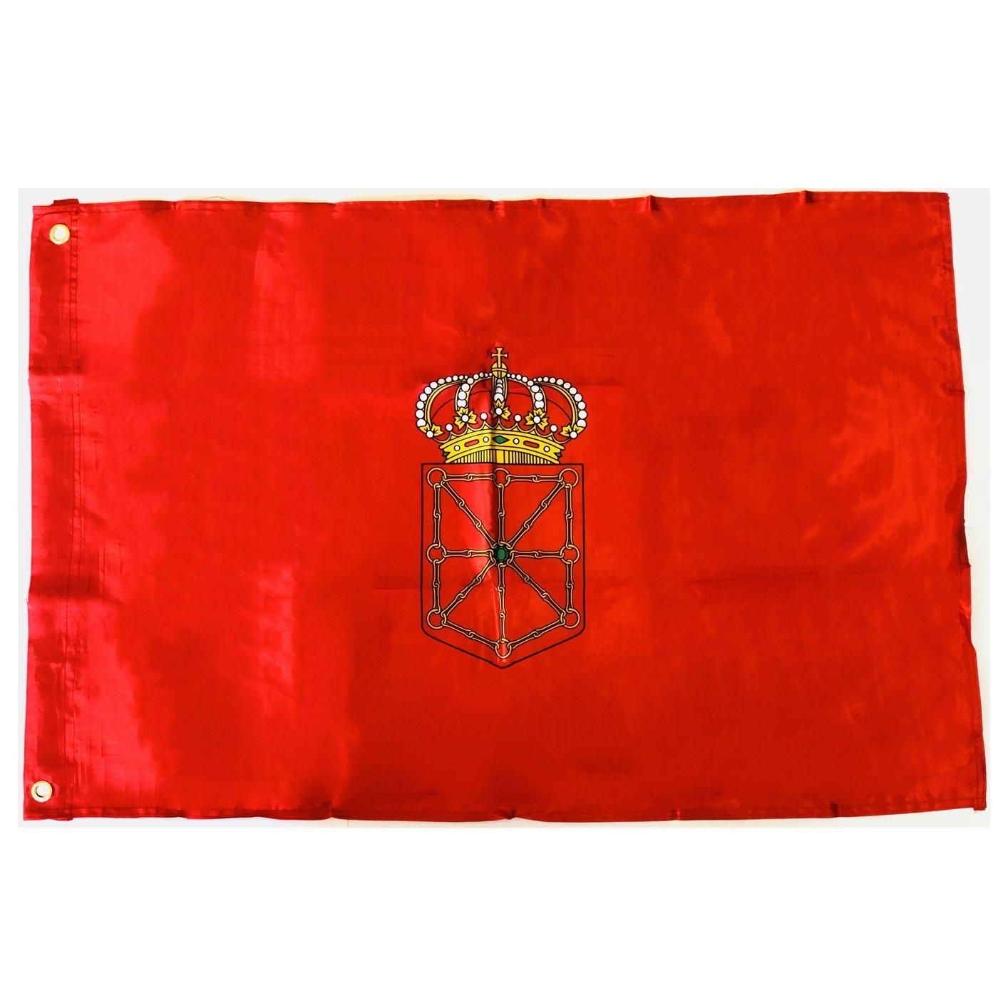 DURABOL Bandera de Navarra Comunidades autónomas de España 60*90 cm SATIN 2 anillas metálicas fijadas en el dobladillo: Amazon.es: Jardín