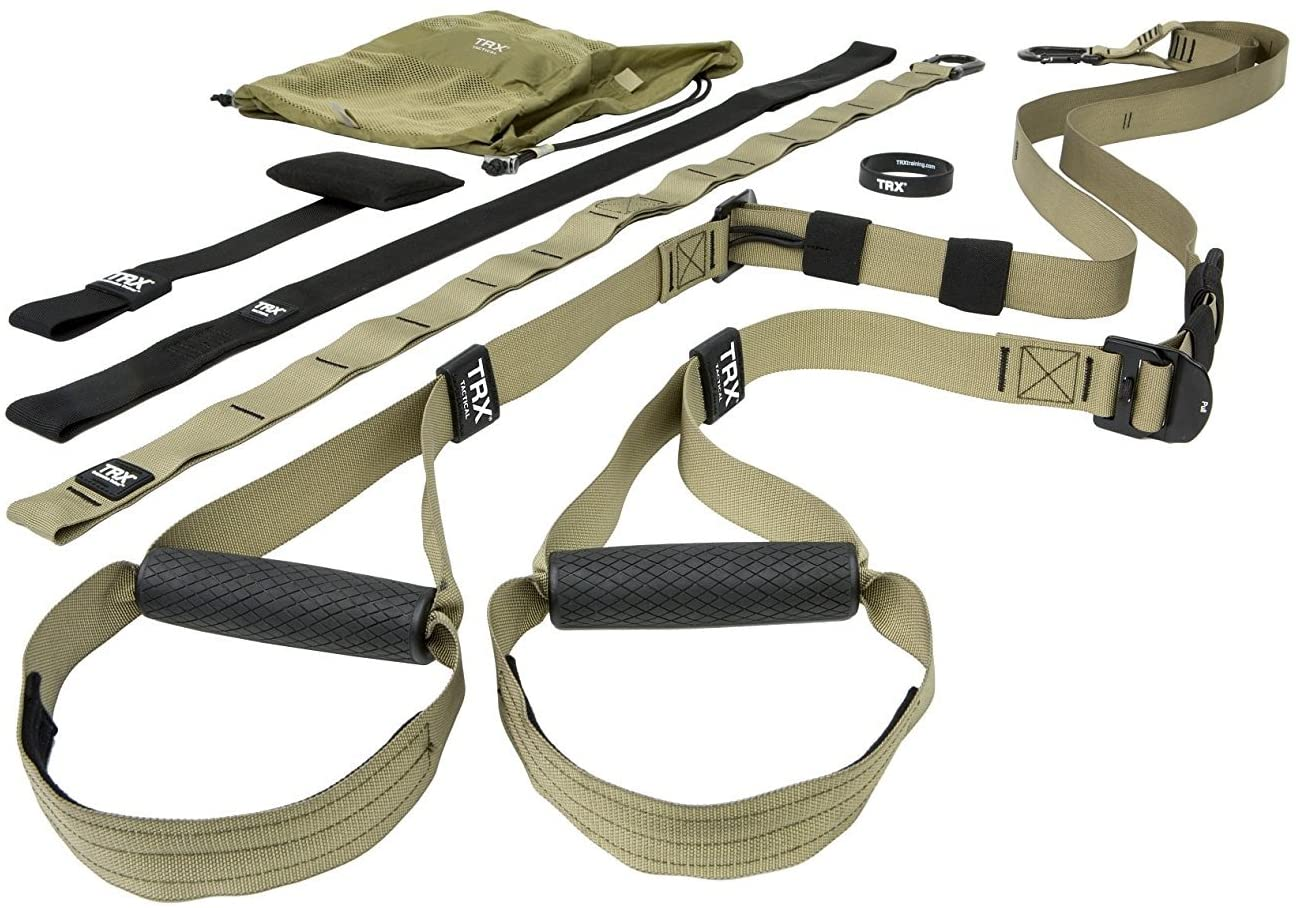 TRX Tactical Gym: The Most Durable Bodyweight Suspension Trainer | Used by US Military & Pro Athletes | Includes Free TRX Force APP with a 12-Week Conditioning Program | Free Rugged Mesh Travel Bag