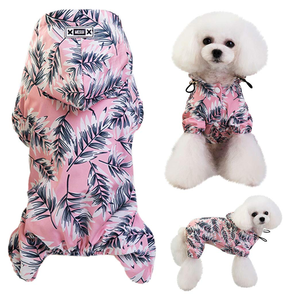 Glumes Pet Apparel Dog Clothing Clothes Rain Snow Coats Waterproof Raincoats 4 Four Legs Raincoat for Small Medium Large Big Size Dogs Hoodie Costumes for Golden Retriever Labrador Chihuahua Poodle
