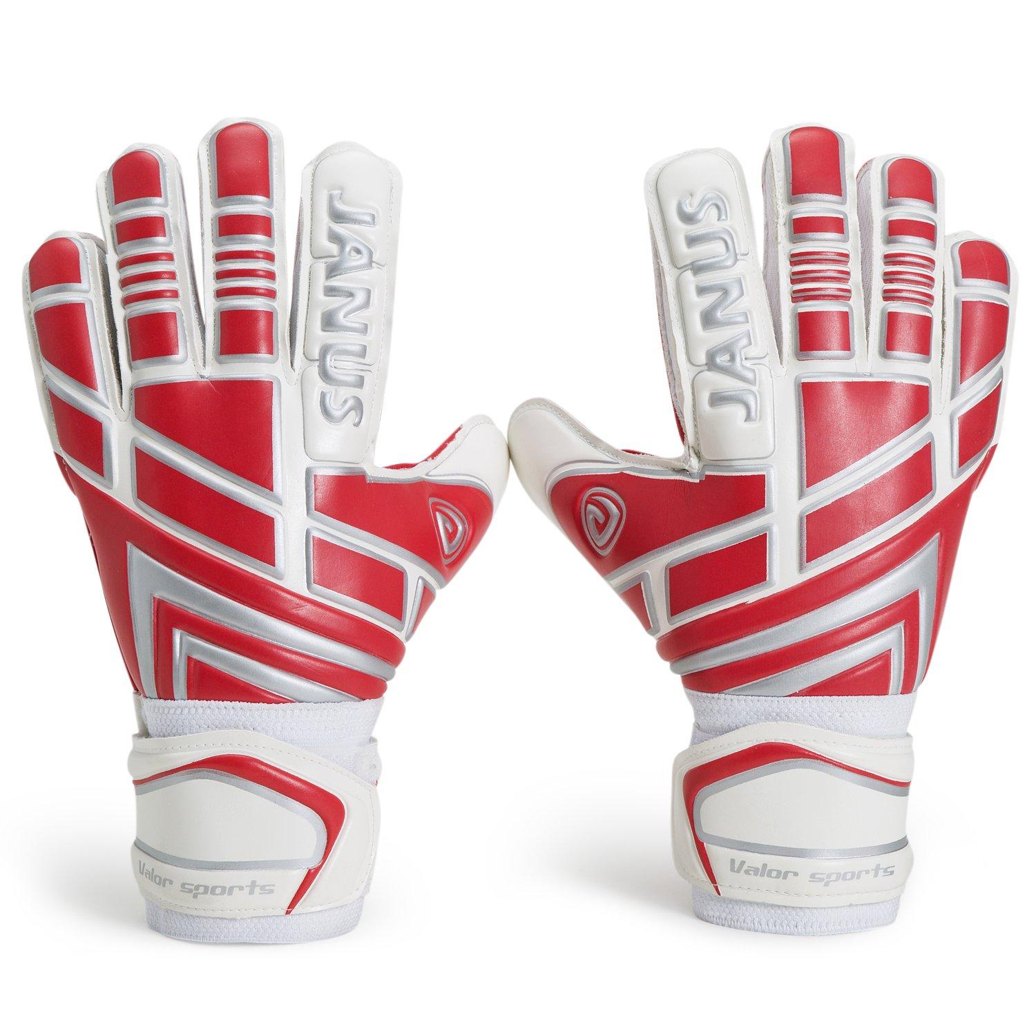 valorsports Youth &大人用Goalieゴールキーパーグローブ、強力なグリップfor the Toughest Saves、with Finger Spines to give Splendid保護ケガを防ぐて B073JQL4X2 10|レッド レッド 10