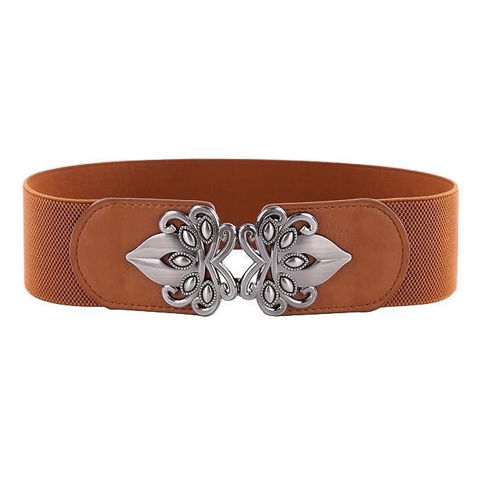 Cinturón Ancho Cinturón para las Mujeres Metal Retro con Hebilla Talla M  CL010476-5  Amazon.es  Ropa y accesorios 953824cc5571