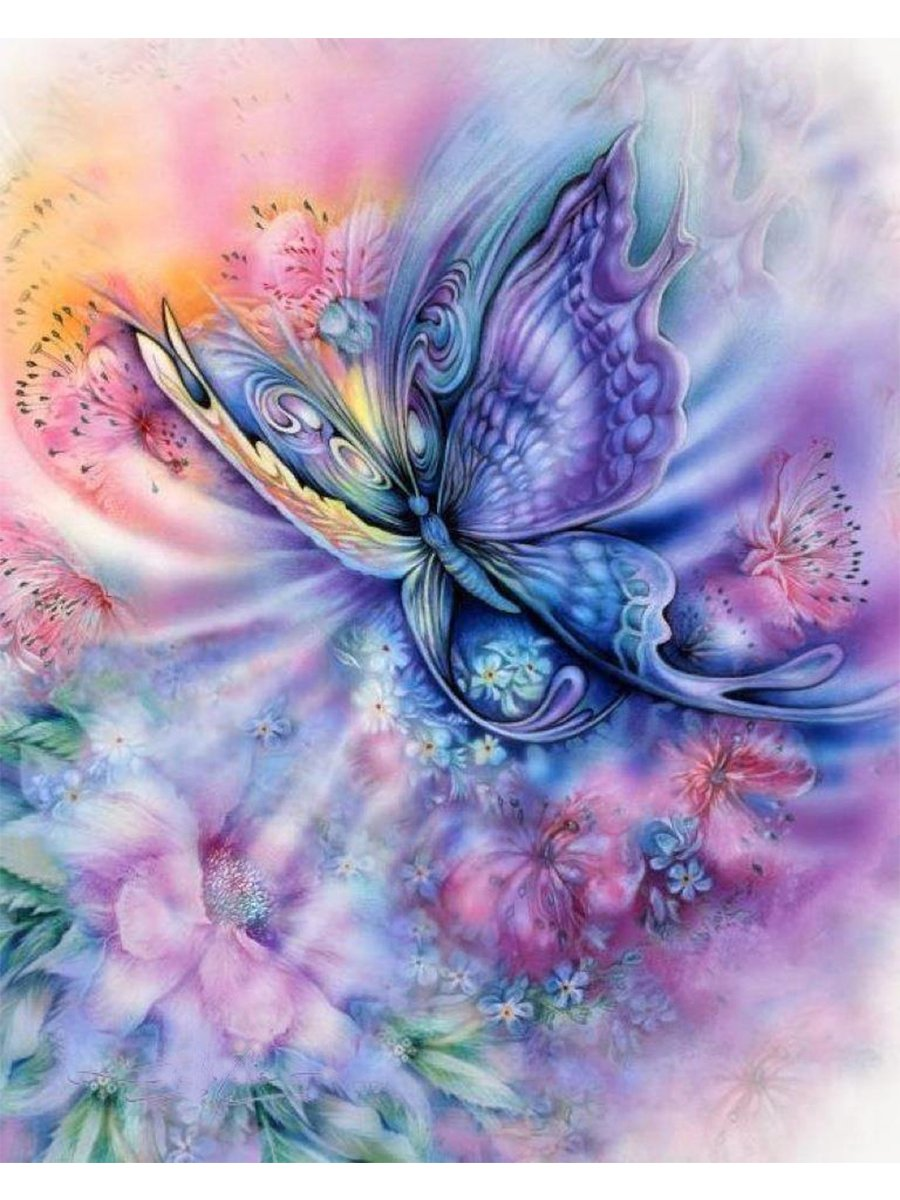 Blxecky 5D DIY Diamond Painting , By Number Kits Crafts & Sewing Cross Stitch,Wall stickers for living room decoration, butterfly(30X45CM/12X18inch)