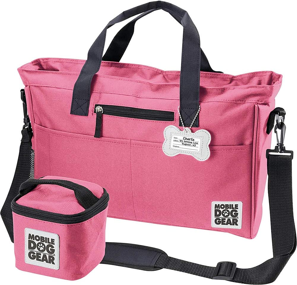 Mobile Dog Gear, Day Away Tote, Dog Travel Bag, Includes 3 Cup Lined Food Carrier