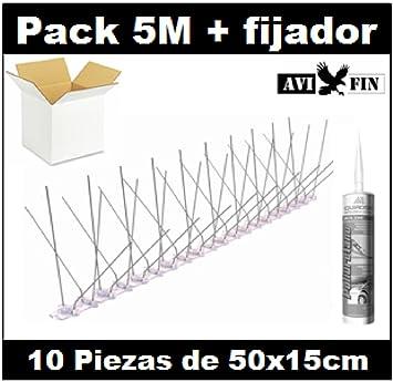 Pack 5M pinchos antipalomas AVIFIN ip140 + fijador ...