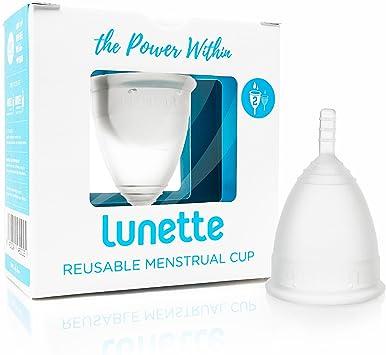 Lunette Copa menstrual reutilizable - Transparente - Modelo 2 para flujo medio o abundante (EN versión)