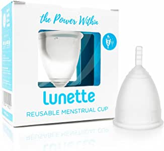 Lunette Menstrual Cup - Clear - Reusable Model 2 Menstrual Cup for Heavy Flow