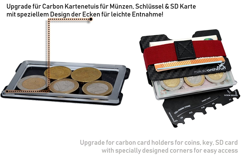 Ultra Slim Minimalist Card Holder Real Carbon Fibre Nfc Rfid
