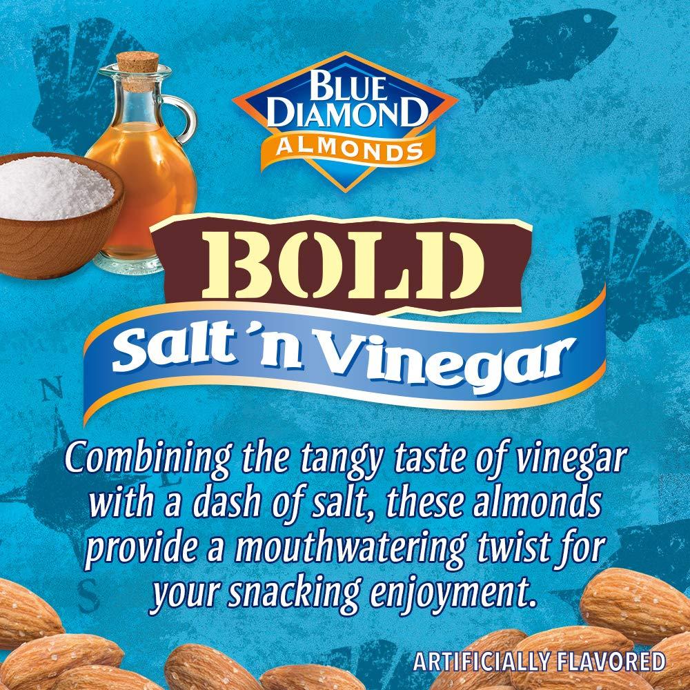 Blue Diamond Almonds BOLD Favorites Variety Pack - Salt 'n Vinegar, Habanero BBQ, & Wasabi & Soy Sauce, 16 Ounce BOLD Variety Pack (Pack of 3) by Blue Diamond Almonds (Image #7)