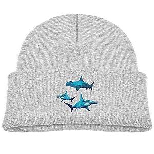 Blue Hammerhead Shark Soft Beanies Caps 0-3 Old Baby Boy Newborn Knitting Hats