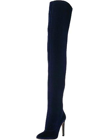 f8713a3cbef Giuseppe Zanotti Women s I880002 Over The Over The Knee Boot Bluette 8 ...