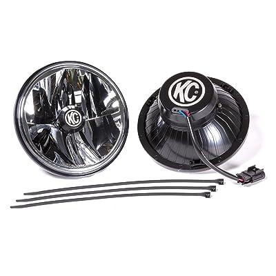 "KC HiLiTES 42351 Gravity LED 7"" DOT Headlight, Jeep JK 07-18 - Pair Pack System: Automotive"