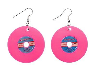 Record Earrings Miniblings Record LP Vinyl DJ Music Black Blue XL ETnPj6Cp9