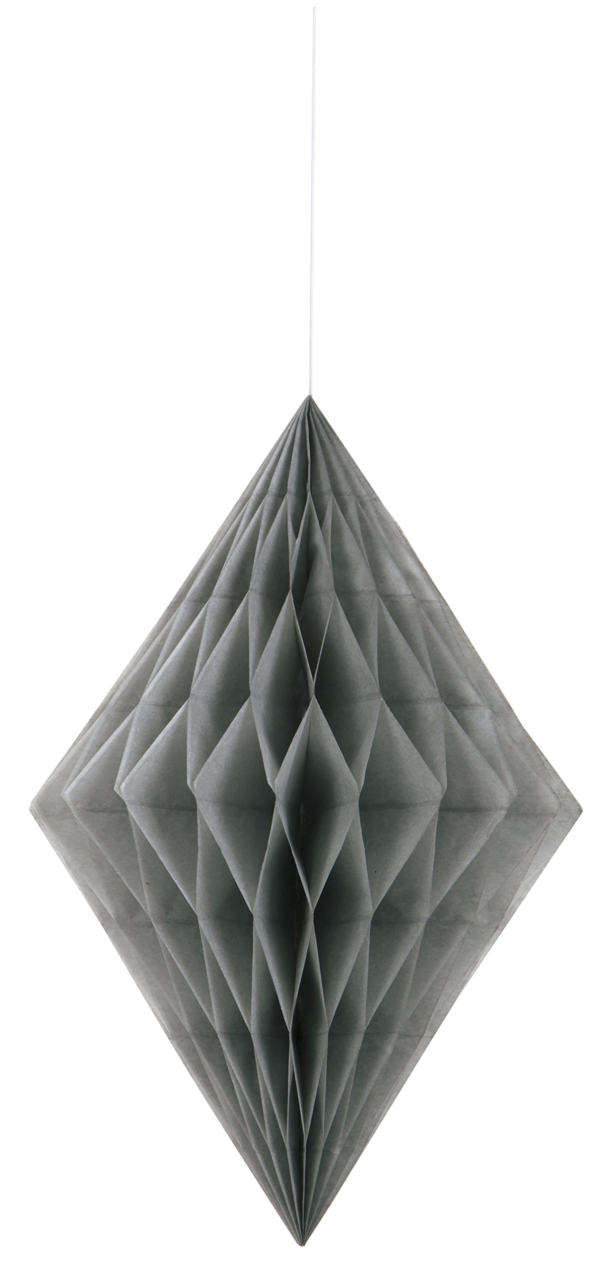 14'' Silver Diamond Tissue Paper Decoration